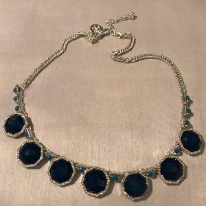 WHBM blue and silver necklace